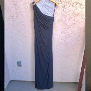 NWT Betsy & Adam One Shoulder Gown